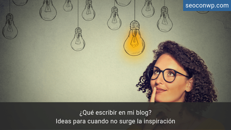 Encontrar ideas escribir blog